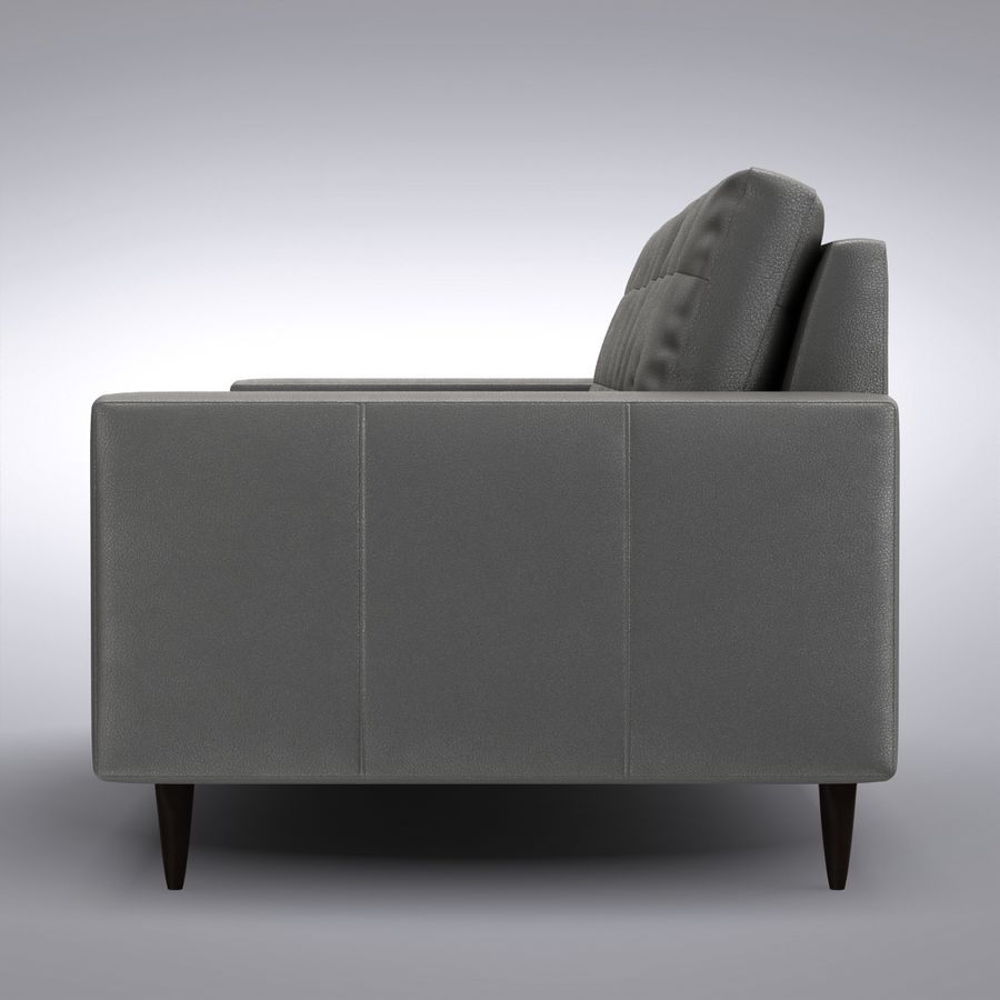 Magnificent Crate And Barrel Petrie Leather Sofa 3D Model 39 Max Gmtry Best Dining Table And Chair Ideas Images Gmtryco