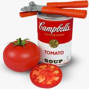 Campbells Tomat Soppa Soup 3d model