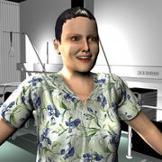 Medical Staff Female 09 3d model