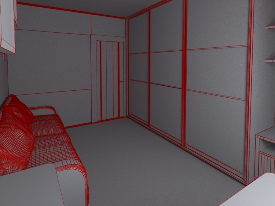 Interior of room royalty-free 3d model - Preview no. 6