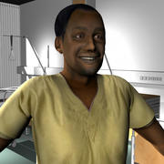 Medical Staff Male 13 3d model