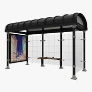 New York Bus Stop 3d model