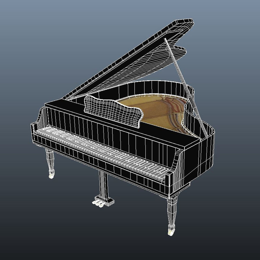 Klavier royalty-free 3d model - Preview no. 4