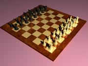 Klasik satranç 3d model