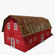 Old Red Barn 3d model