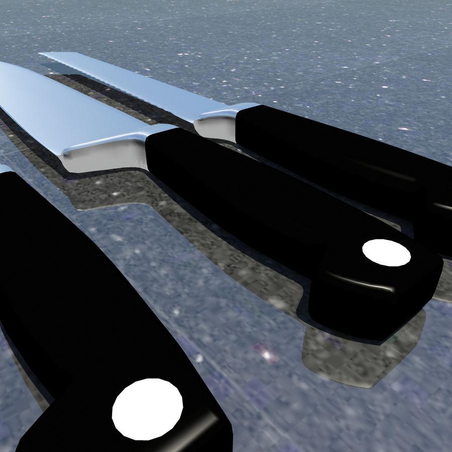 Kitchen Knife Set 1 royalty-free 3d model - Preview no. 5