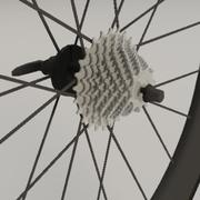 Road bike aero wheelset 3d model