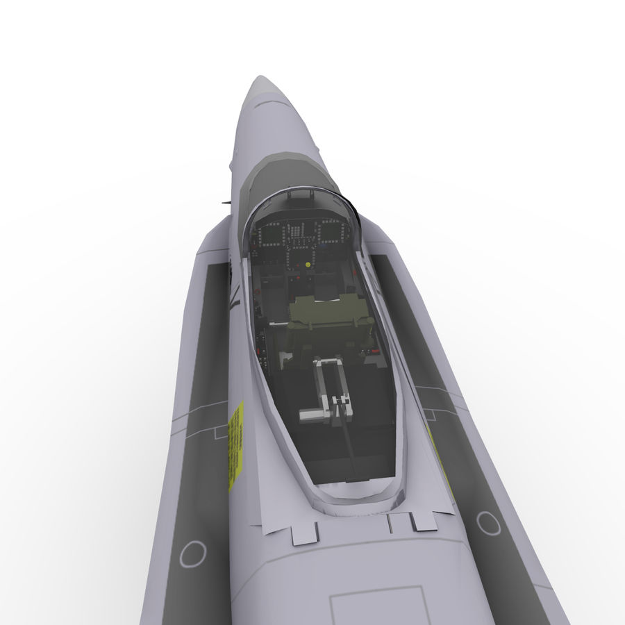 F / A-18 royalty-free 3d model - Preview no. 9
