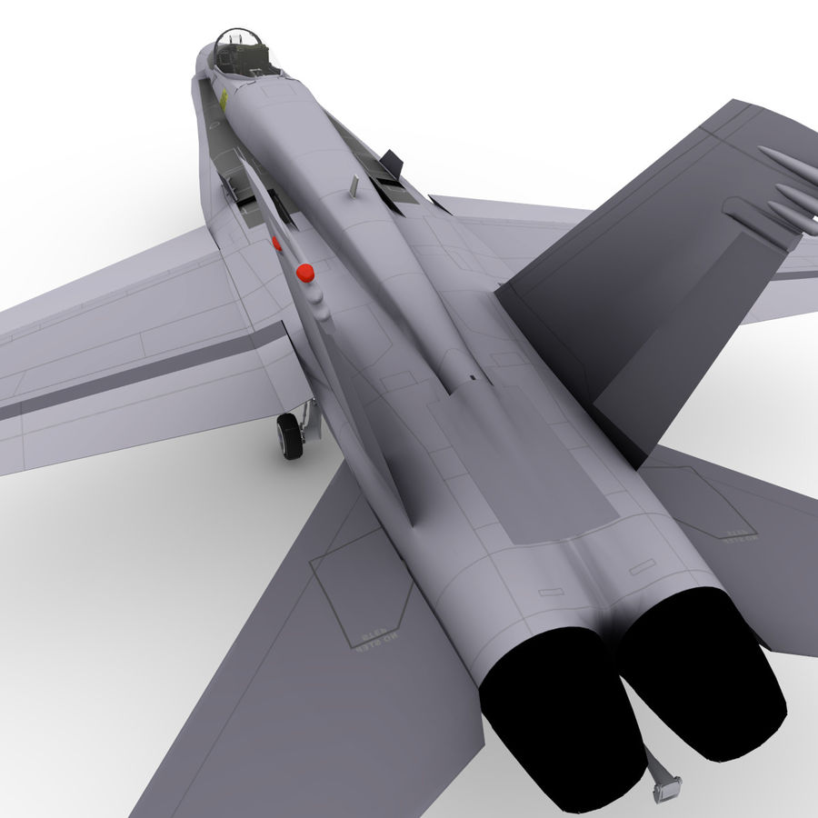 F / A-18 royalty-free 3d model - Preview no. 8