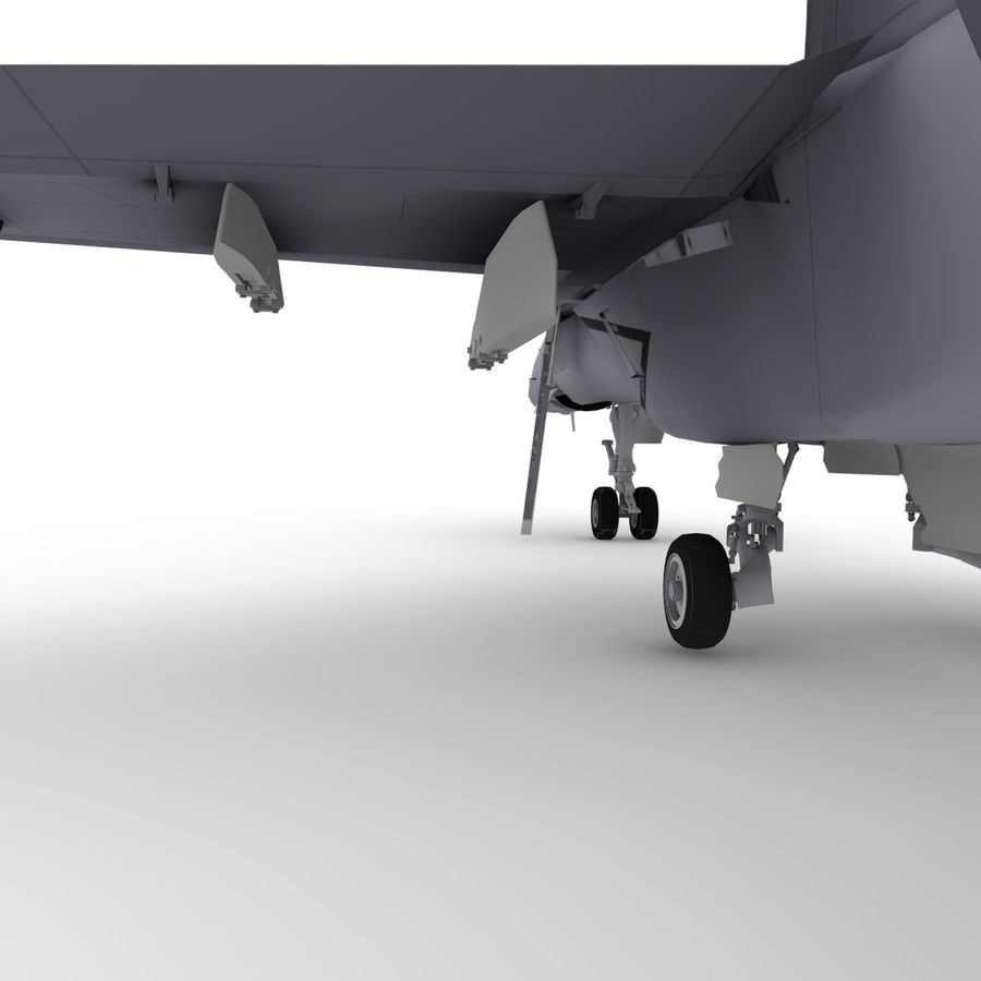 F/A-18 royalty-free 3d model - Preview no. 7