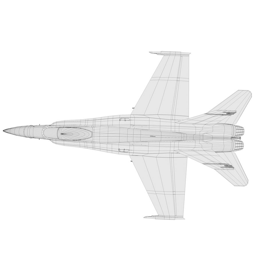 F / A-18 royalty-free 3d model - Preview no. 10