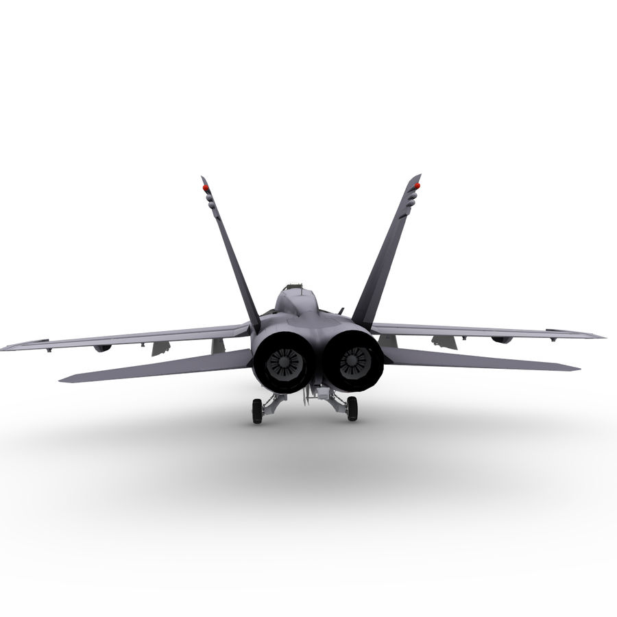 F / A-18 royalty-free 3d model - Preview no. 3