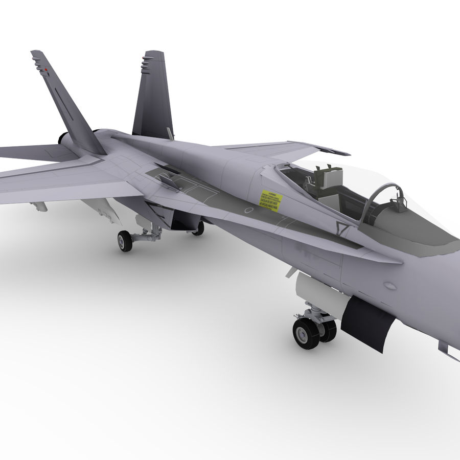 F / A-18 royalty-free 3d model - Preview no. 4