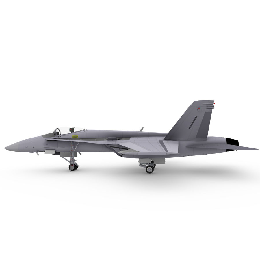 F / A-18 royalty-free 3d model - Preview no. 2