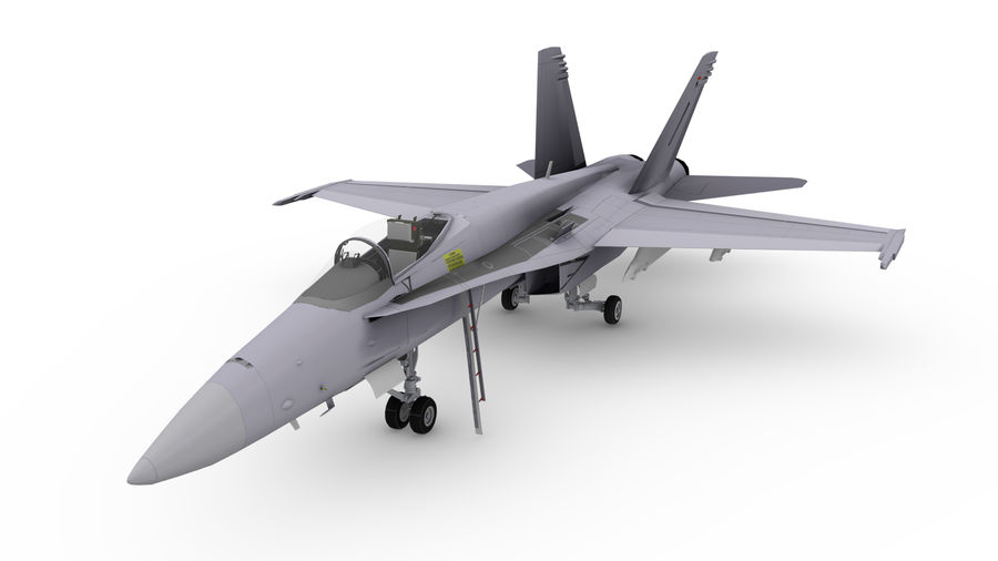 F / A-18 royalty-free 3d model - Preview no. 1