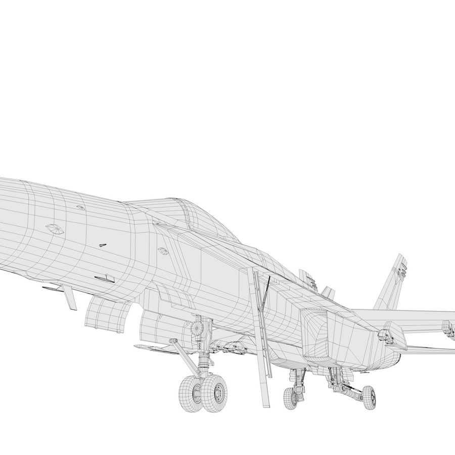 F / A-18 royalty-free 3d model - Preview no. 11