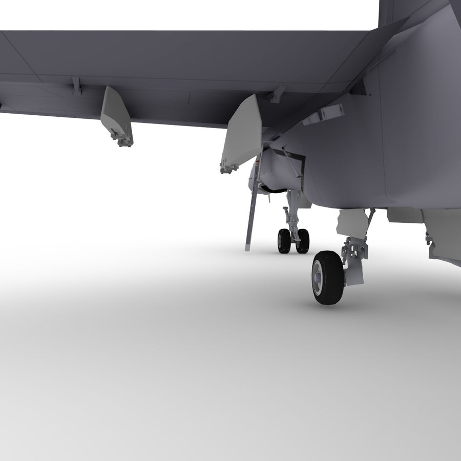 F / A-18 royalty-free 3d model - Preview no. 7