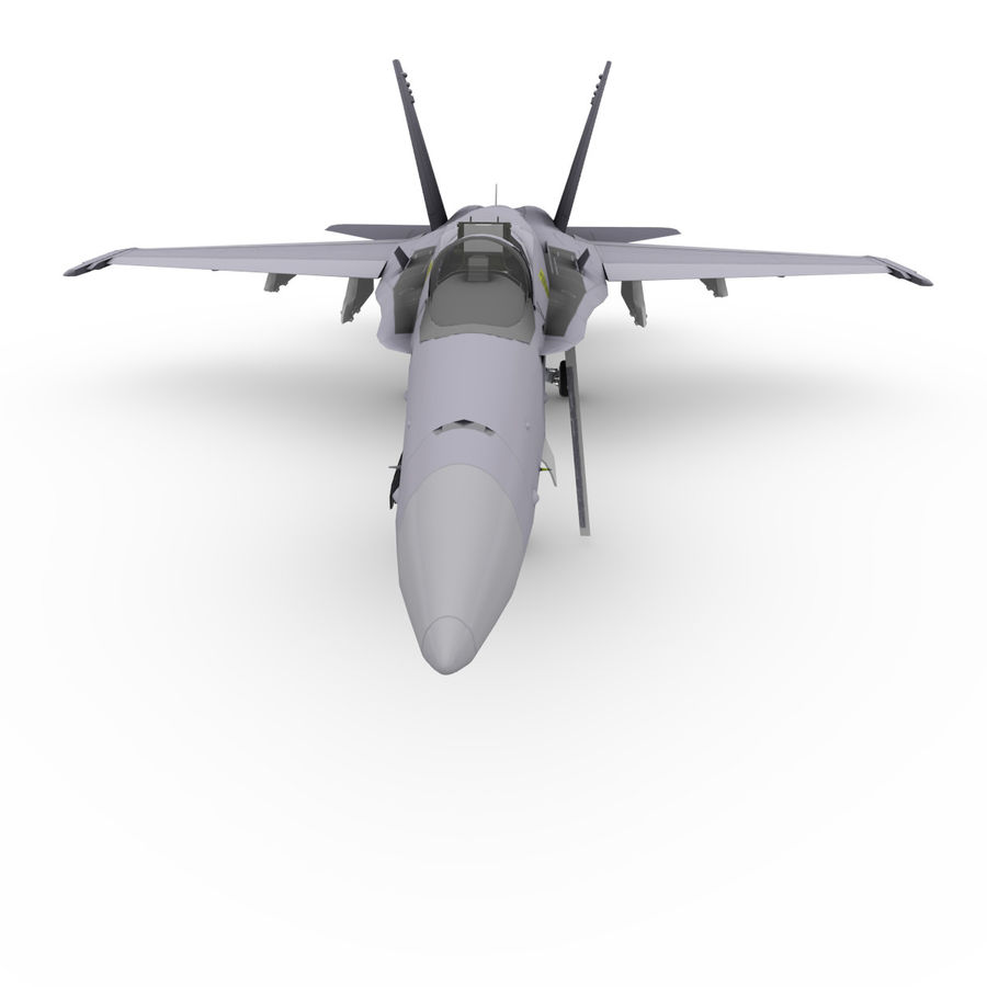 F / A-18 royalty-free 3d model - Preview no. 5