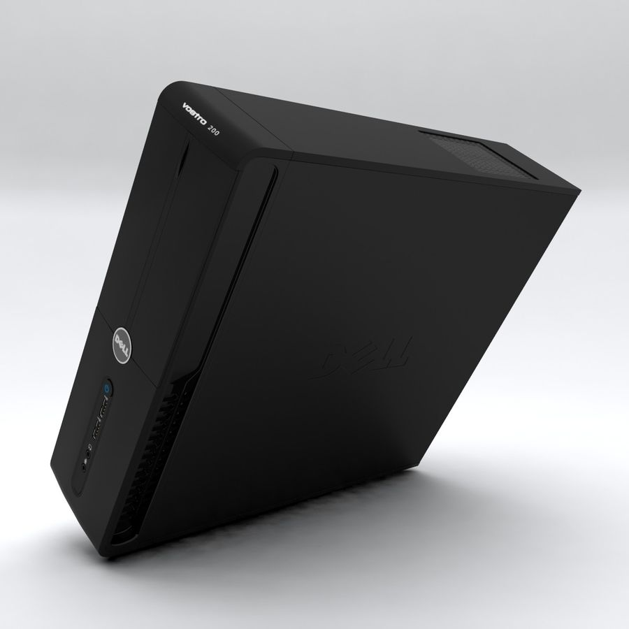 Dell Vostro 200 royalty-free 3d model - Preview no. 6