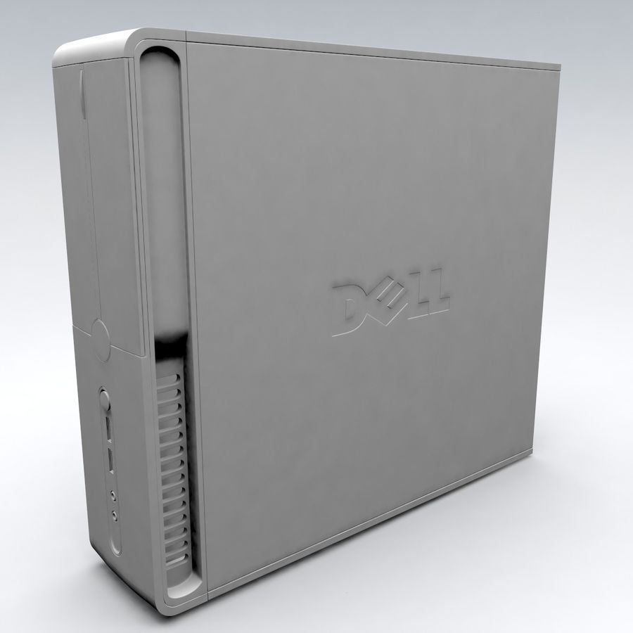 Dell Vostro 200 royalty-free 3d model - Preview no. 9