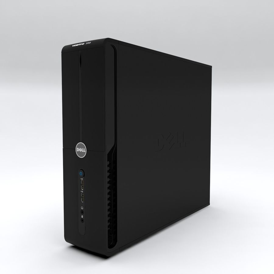 Dell Vostro 200 royalty-free 3d model - Preview no. 3