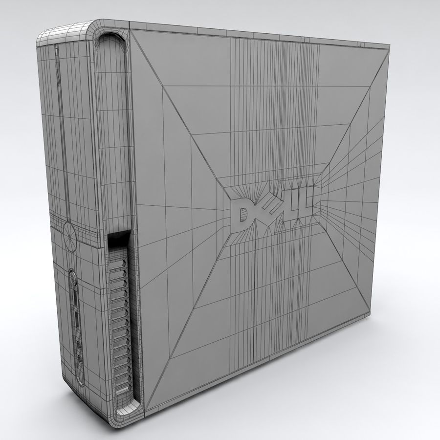 Dell Vostro 200 royalty-free 3d model - Preview no. 10