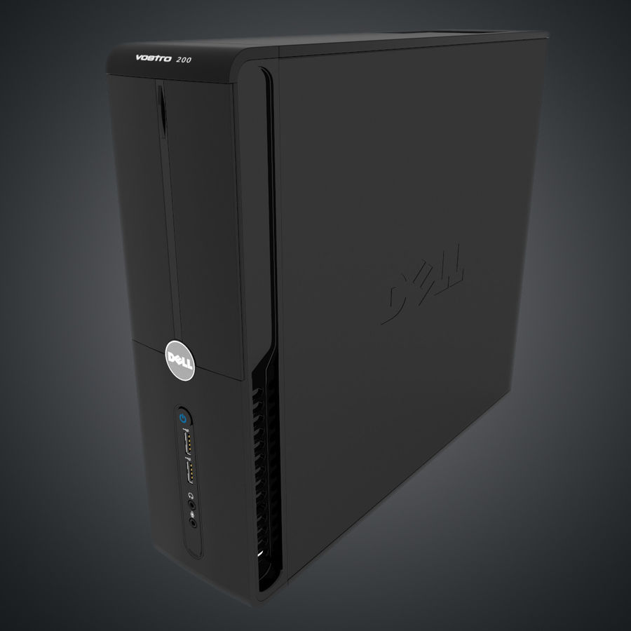 Dell Vostro 200 royalty-free modelo 3d - Preview no. 2