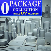 50 packages 3d model