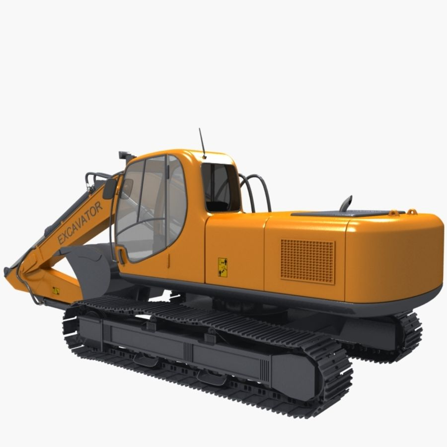 EXCAVATOR 2012 royalty-free 3d model - Preview no. 4
