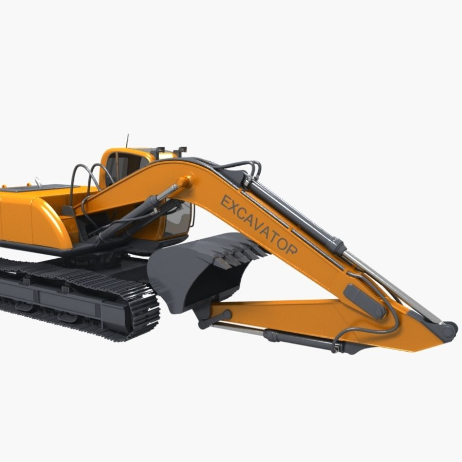 EXCAVATOR 2012 royalty-free 3d model - Preview no. 3