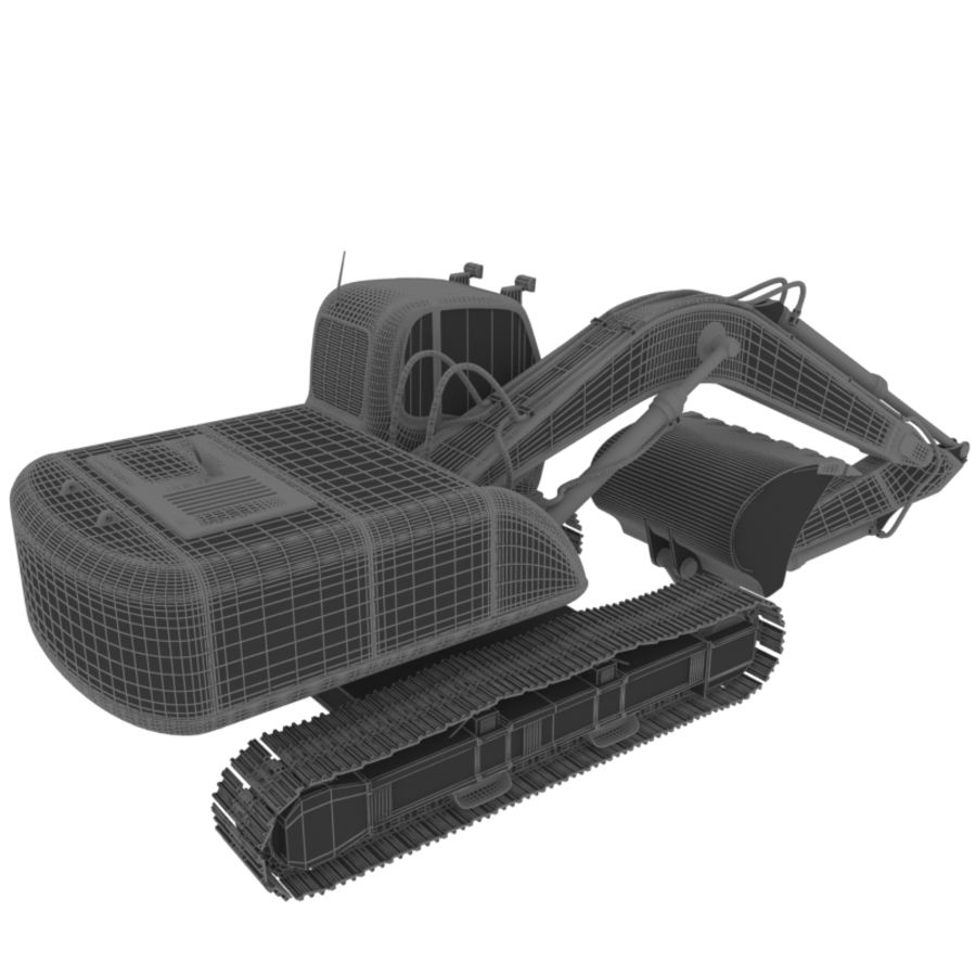 EXCAVATOR 2012 royalty-free 3d model - Preview no. 8