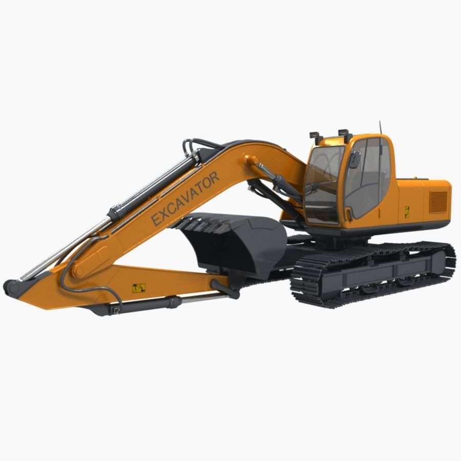 EXCAVATOR 2012 royalty-free 3d model - Preview no. 2