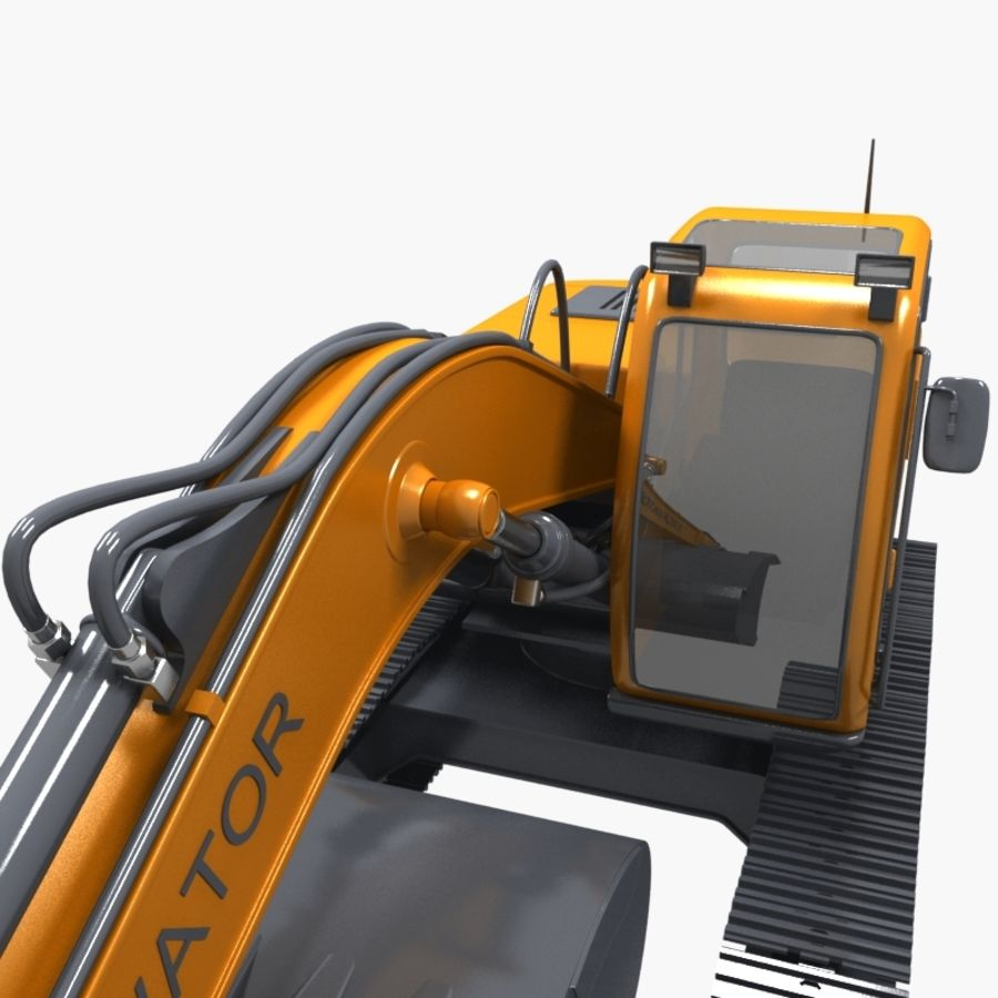 EXCAVATOR 2012 royalty-free 3d model - Preview no. 6