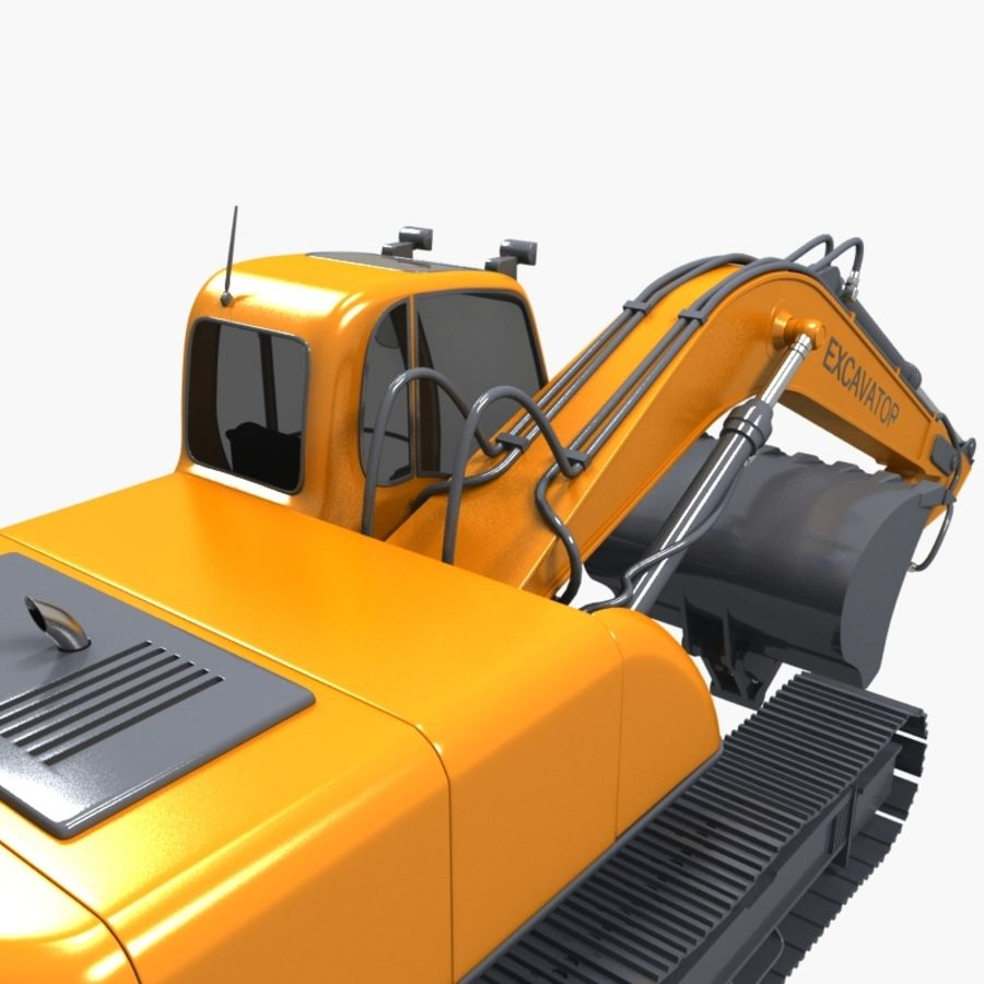 EXCAVATOR 2012 royalty-free 3d model - Preview no. 5