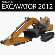 挖掘机2012 3d model