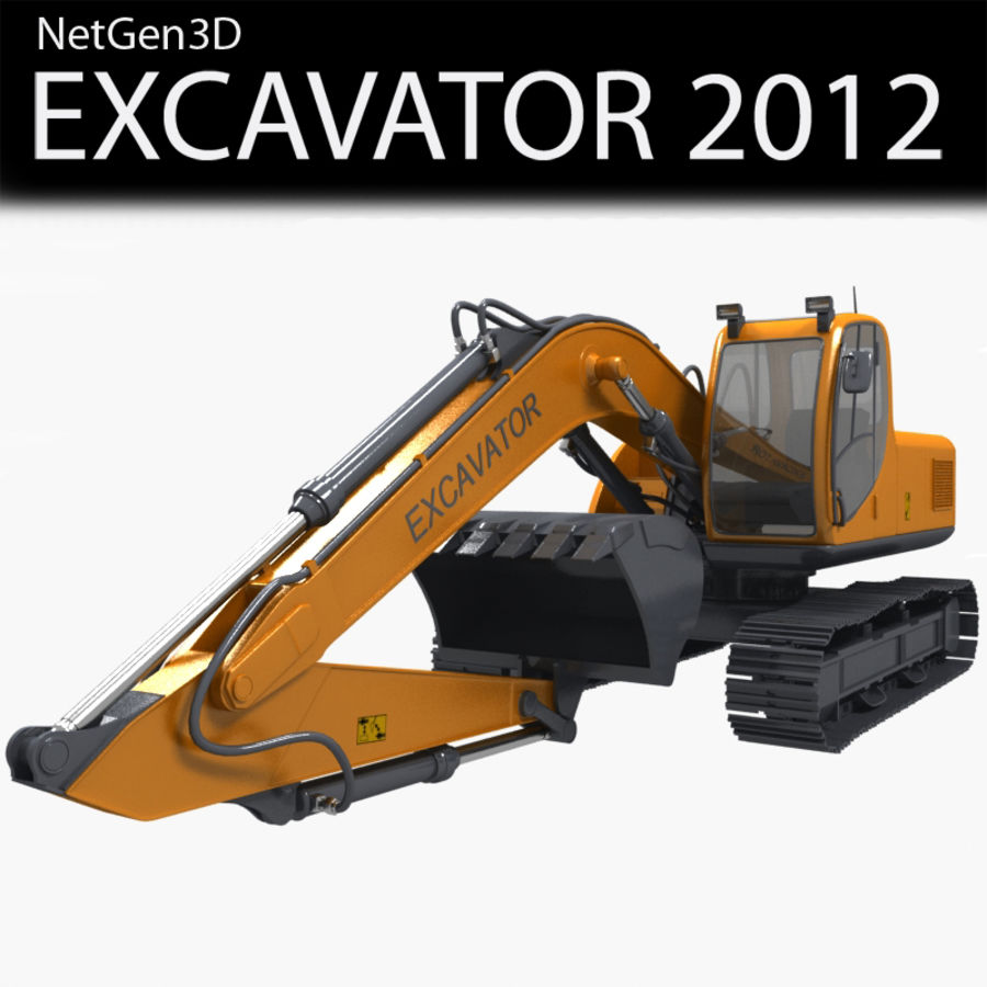EXCAVATOR 2012 royalty-free 3d model - Preview no. 1