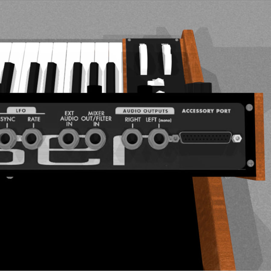 Moog Voyager: Synthesizer Keyboard: C4D Model royalty-free 3d model - Preview no. 16