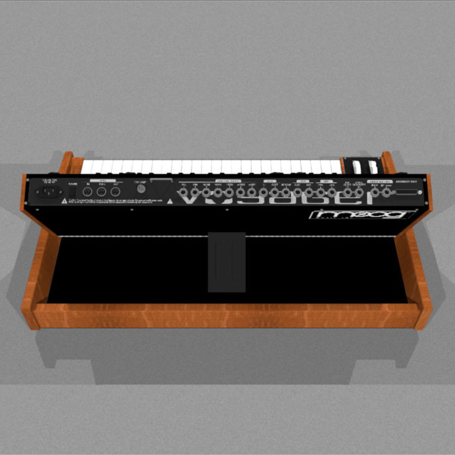 Moog Voyager: Synthesizer Keyboard: C4D Model royalty-free 3d model - Preview no. 7
