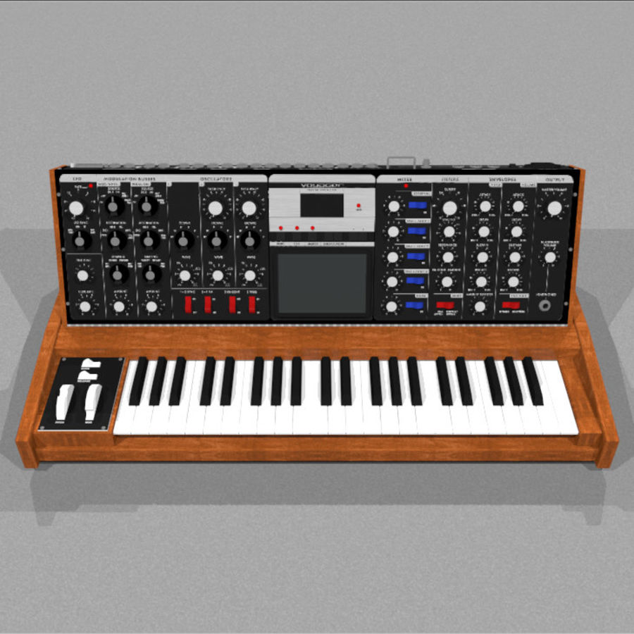 Moog Voyager: Synthesizer Keyboard: C4D Model royalty-free 3d model - Preview no. 2