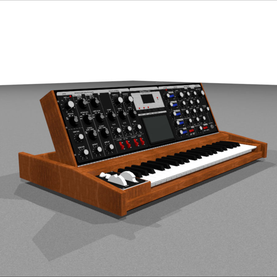 Moog Voyager: Synthesizer Keyboard: C4D Model royalty-free 3d model - Preview no. 4