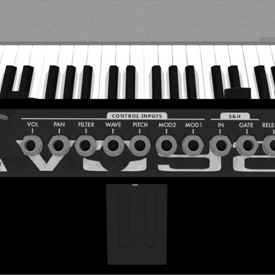 Moog Voyager: Synthesizer Keyboard: C4D Model royalty-free 3d model - Preview no. 15
