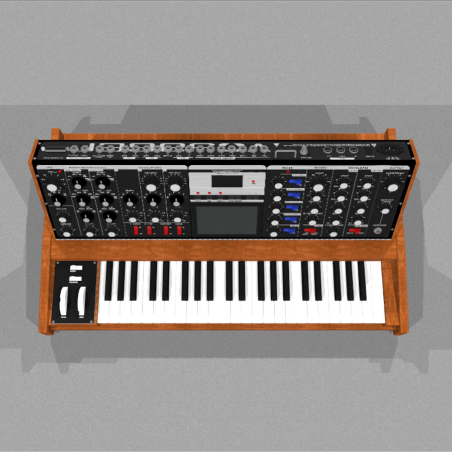 Moog Voyager: Synthesizer Keyboard: C4D Model royalty-free 3d model - Preview no. 3