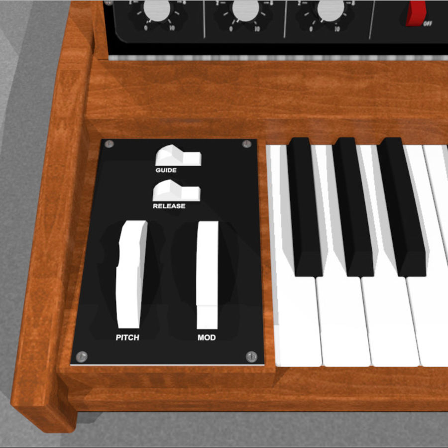 Moog Voyager: Synthesizer Keyboard: C4D Model royalty-free 3d model - Preview no. 13