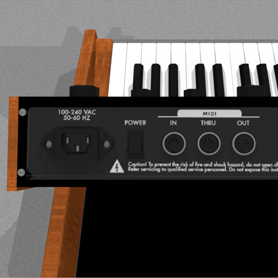 Moog Voyager: Synthesizer Keyboard: C4D Model royalty-free 3d model - Preview no. 14