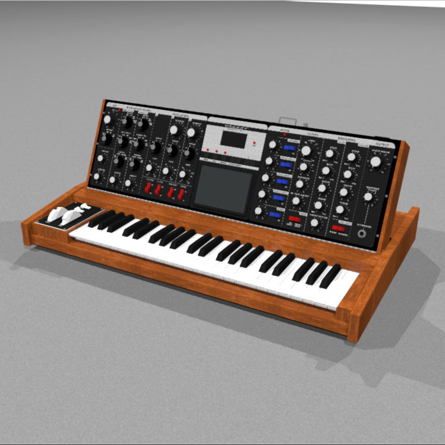 Moog Voyager: Synthesizer Keyboard: C4D Model royalty-free 3d model - Preview no. 1