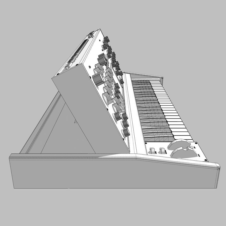 Moog Voyager: Synthesizer Keyboard: C4D Model royalty-free 3d model - Preview no. 22