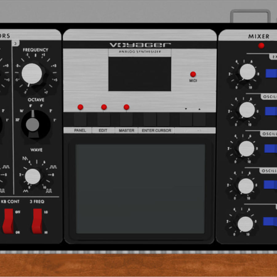 Moog Voyager: Synthesizer Keyboard: C4D Model royalty-free 3d model - Preview no. 11
