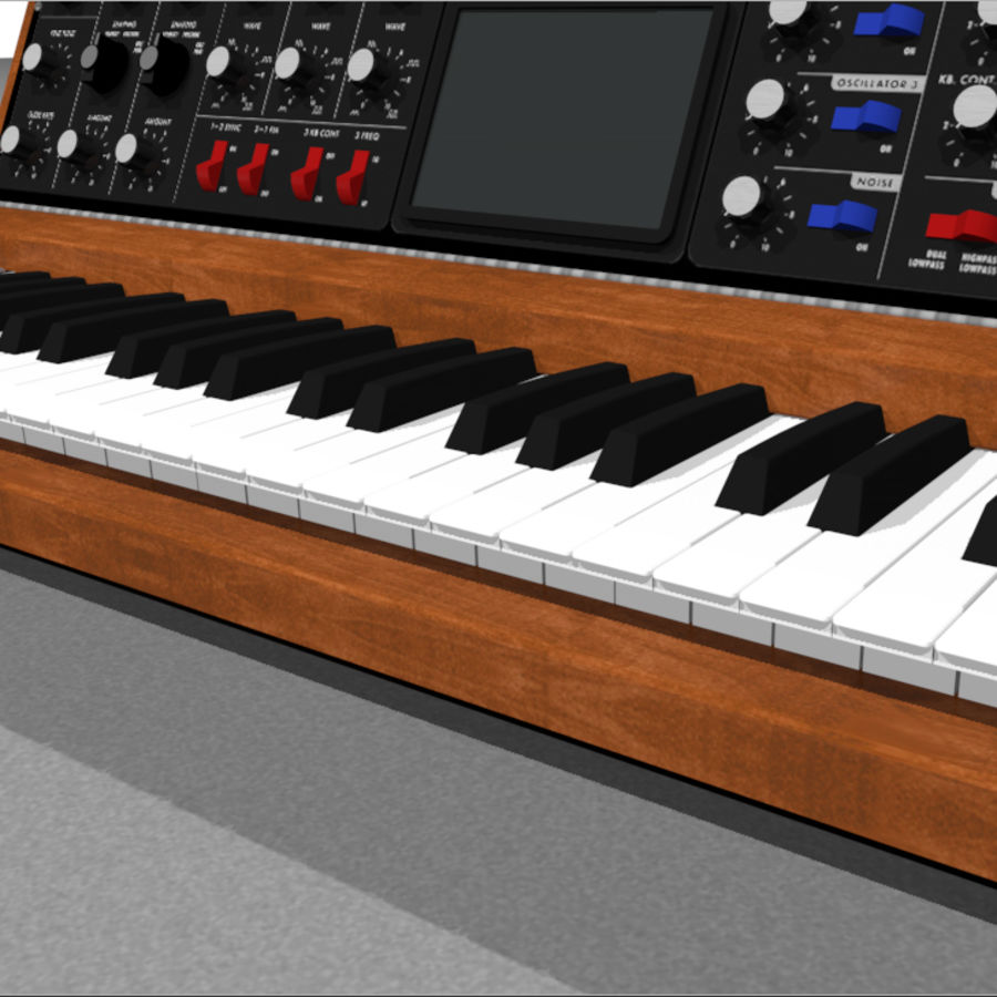 Moog Voyager: Synthesizer Keyboard: C4D Model royalty-free 3d model - Preview no. 9