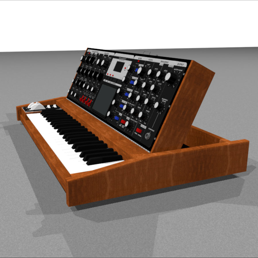 Moog Voyager: Synthesizer Keyboard: C4D Model royalty-free 3d model - Preview no. 5