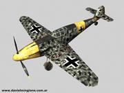 BF 109 (Düşük Poli) 3d model